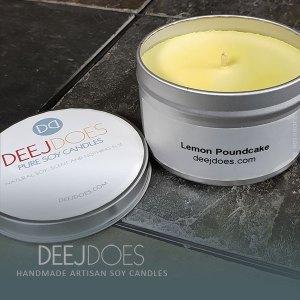 Lemon Poundcake Soy Candle by DEEJ DOES