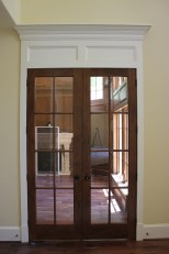 Walnut grained doors