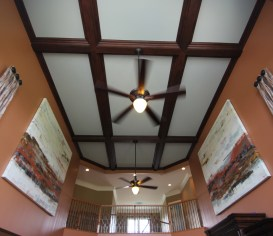 mahogany grained beams