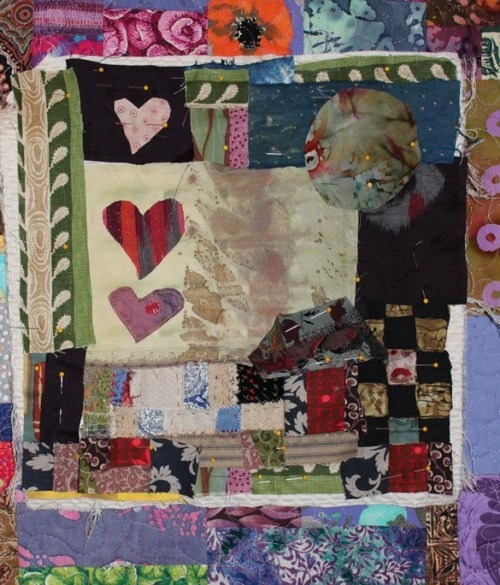 remember this? WIP pinned to finished quilt