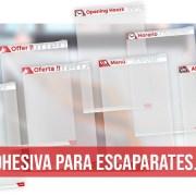 Carpeta adhesiva para escaparates