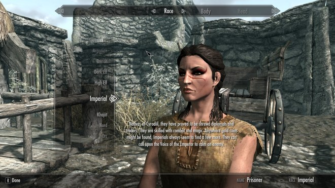 The Elder Scrolls V: Skyrim (Character Creation)