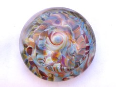 Flame crafted glass weight.