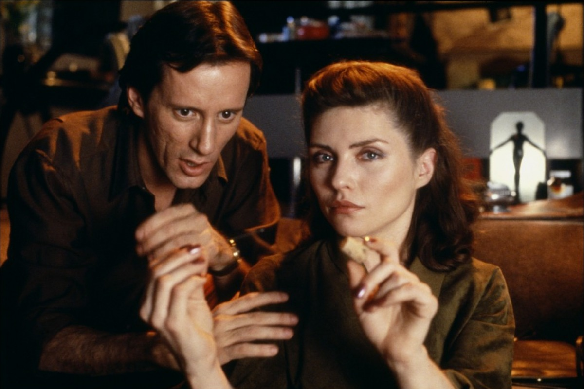 James Woods and Deborah Harry in Videodrome