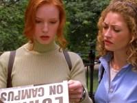 Alicia Witt and Rebecca Gayheart in Urban Legend