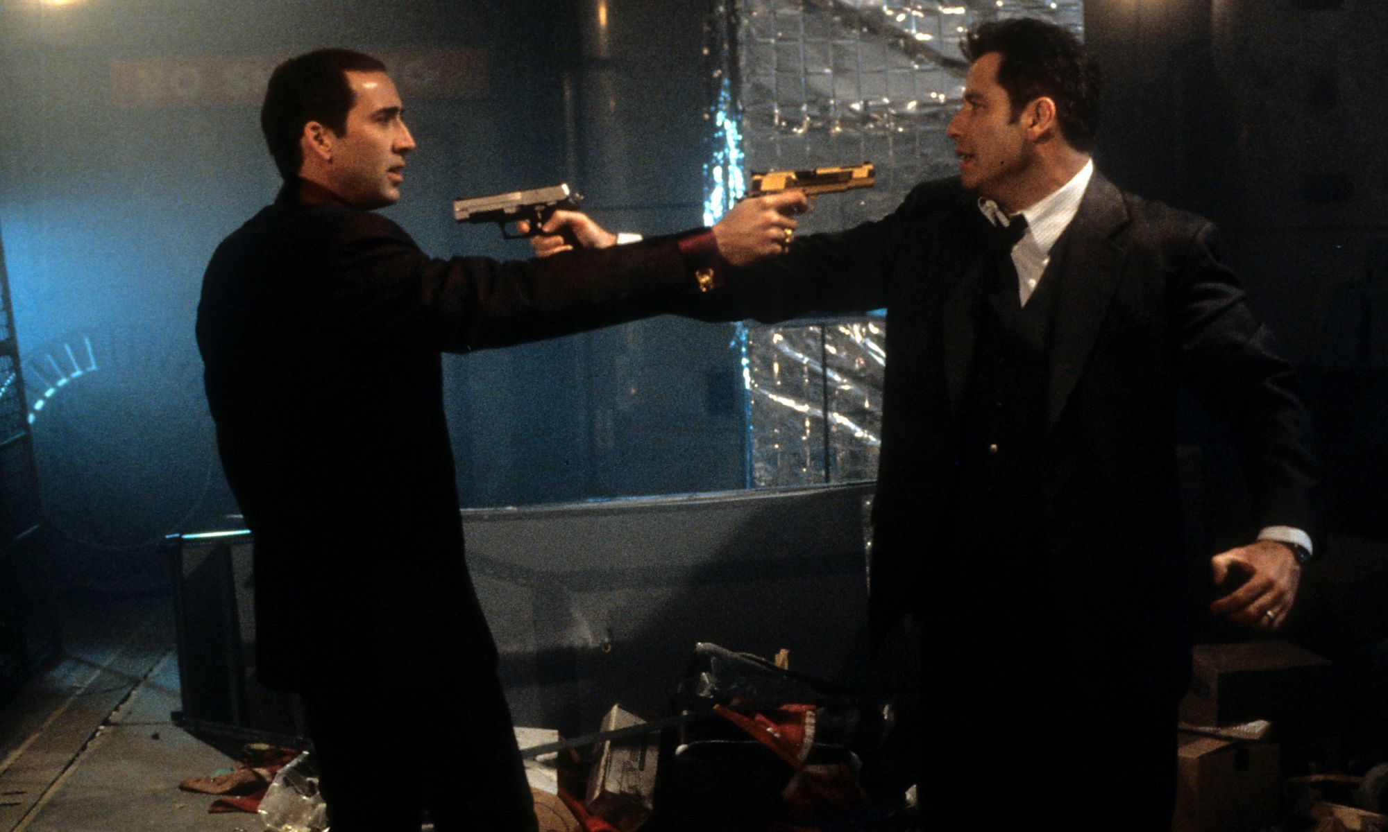 Nicolas Cage (left) and John Travolta in Face/Off