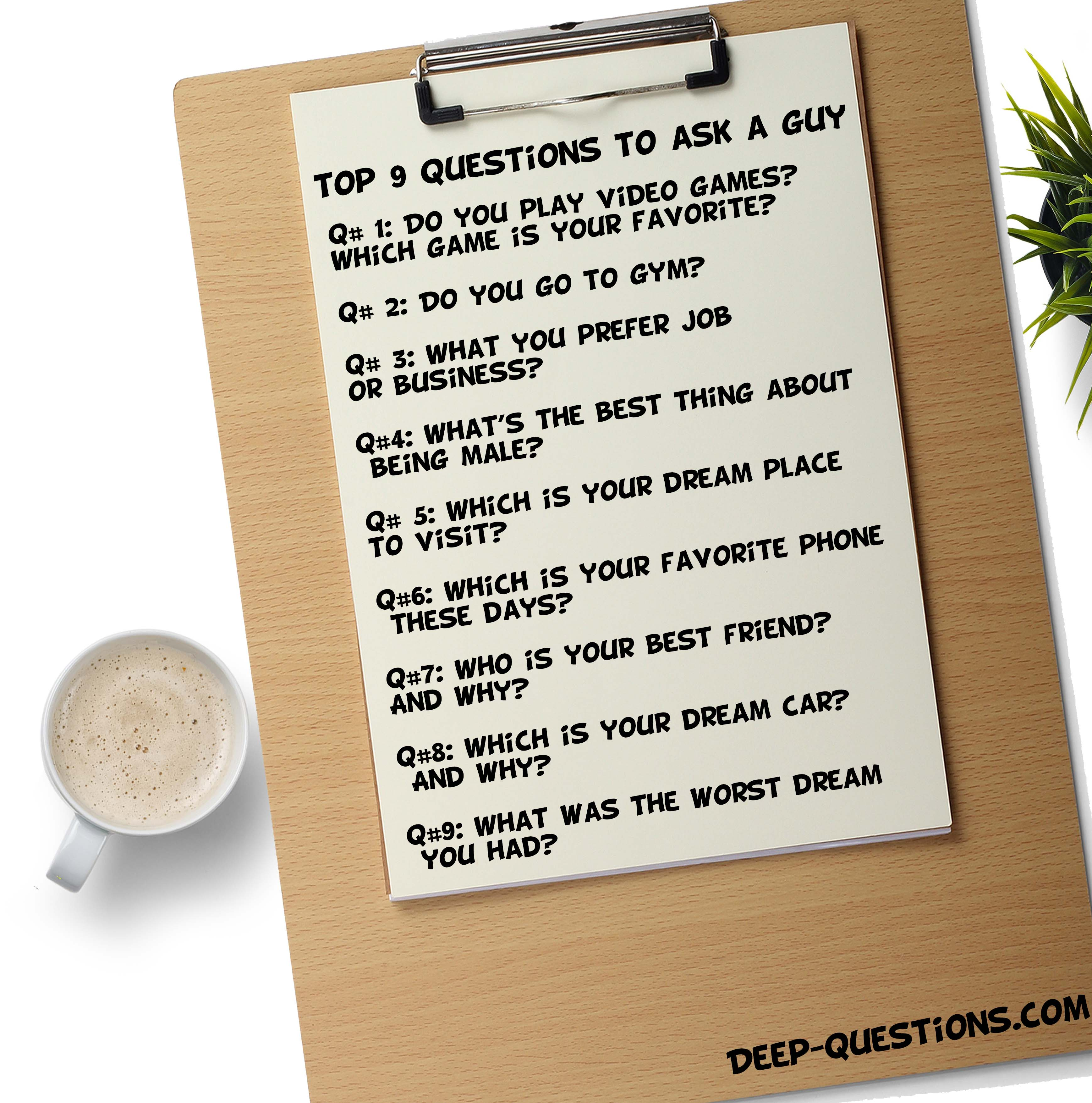 LAKEISHA: Good interesting questions to ask a guy