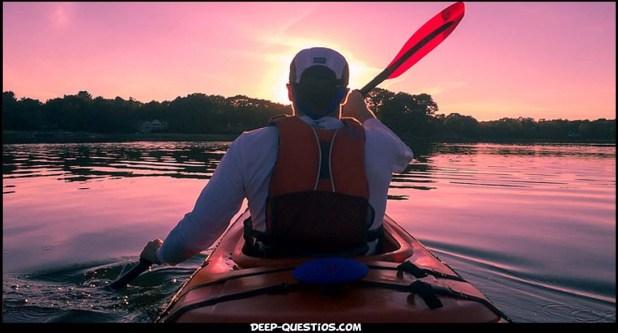 Person in boat fun experience