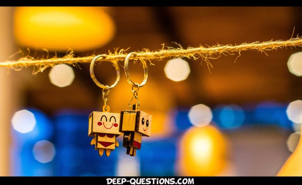 Love keychain on personal questions to ask a guy