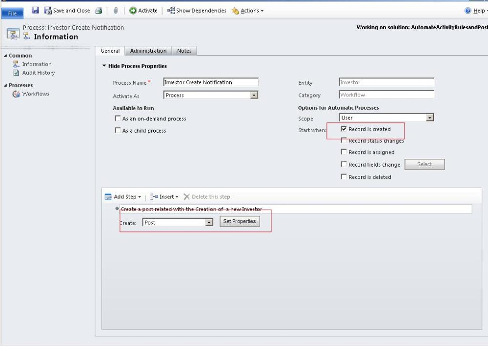 Activity Feed in CRM 2011 (5/6)