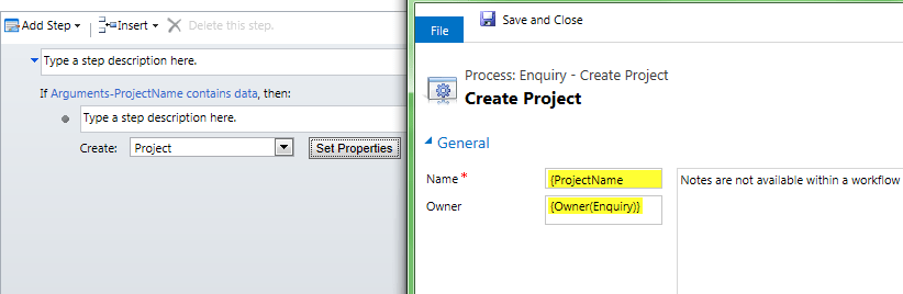 Actions in CRM 2013 (3/5)