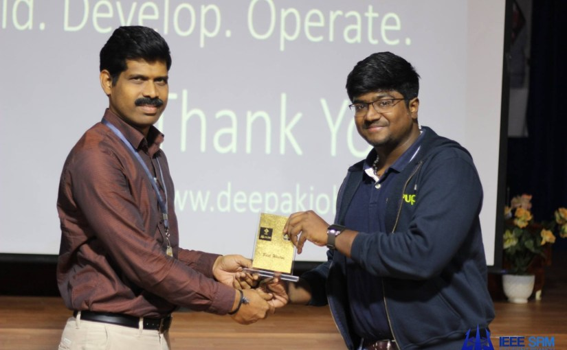 Speaker @ Alpha IEEE Madras Entrepreneurship Summit