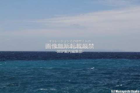 与論島から見える沖縄本島
