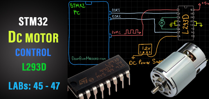 STM32 DC Motor PWM Speed And Direction Control With L293D Tutorial