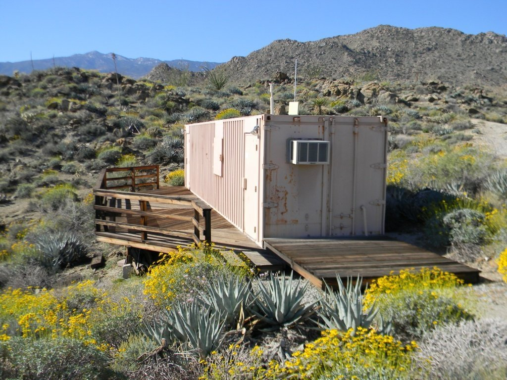 Photo of the Agave Hill facility, which is a shipping container