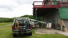deck restructuring, Alpine Lake Resort Lodge