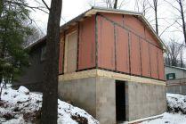 Alpine Lake Resort Cabin Addition under construction