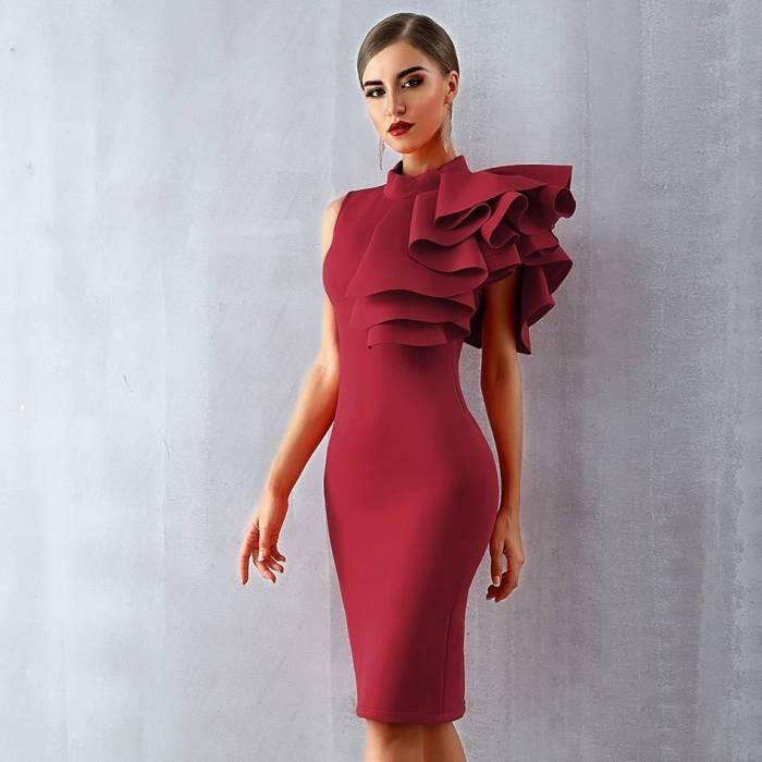 Midi Bodycon Bandage Dress
