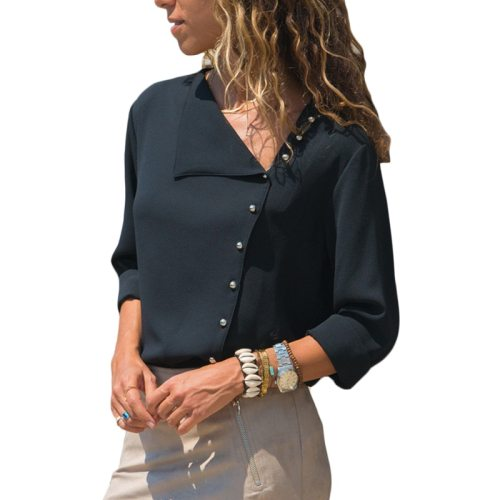 Fashionable Chiffon Long Sleeve Blouse