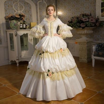 White Lace Victorian Dresses