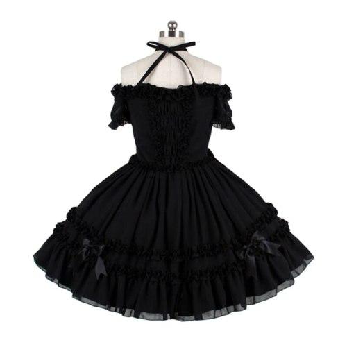 New Black Victorian Dress