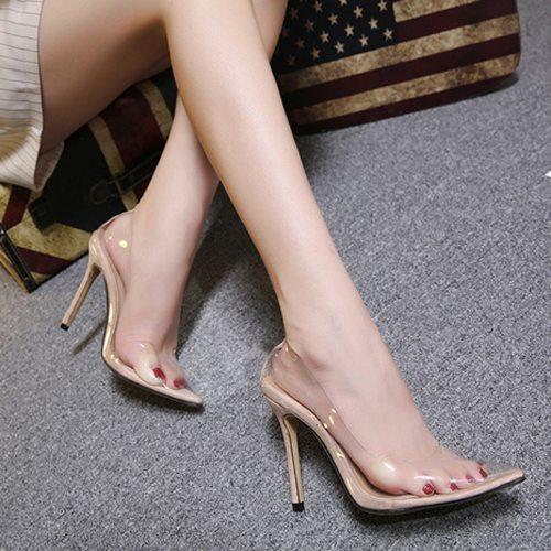 Transparent PVC Stiletto Shoes