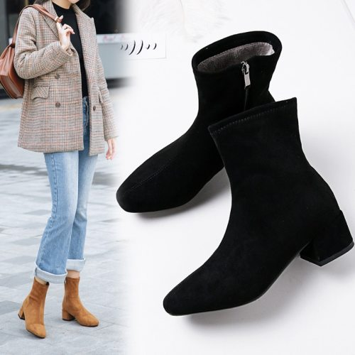 Women Pointed Toe Chelsea Boots