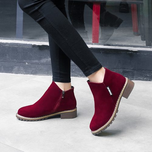 Female Suede Leather Boots