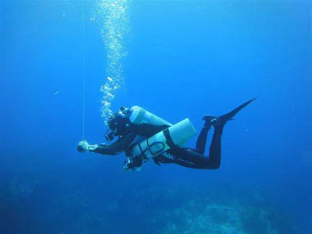 Plongée profonde à Cozumel avec décompression au Nitrox et à l'oxygène