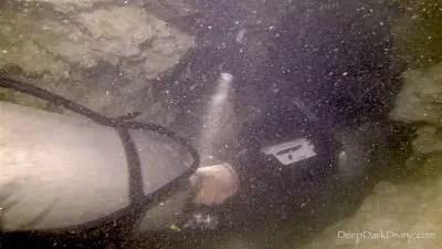 Passage d'une étroiture - Cenote Minotauro
