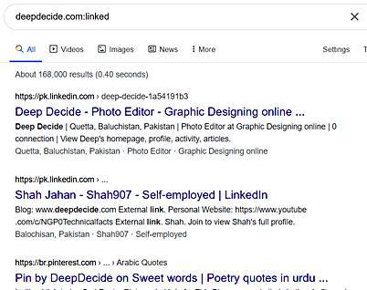 tips and tricks :Find linked sites to another Pages Using the linked