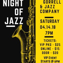 Yellow and Black Jazz Night Saxophone Illustration Concert Flyer