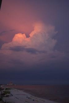 Biloxi Storm at Sunset