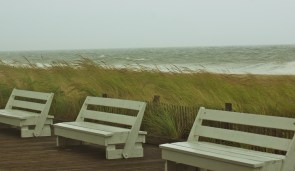 Beach storm at Rehoboth Beach, Delaware