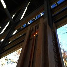 Side window at Cooper Chapel in Bella Vista, AR