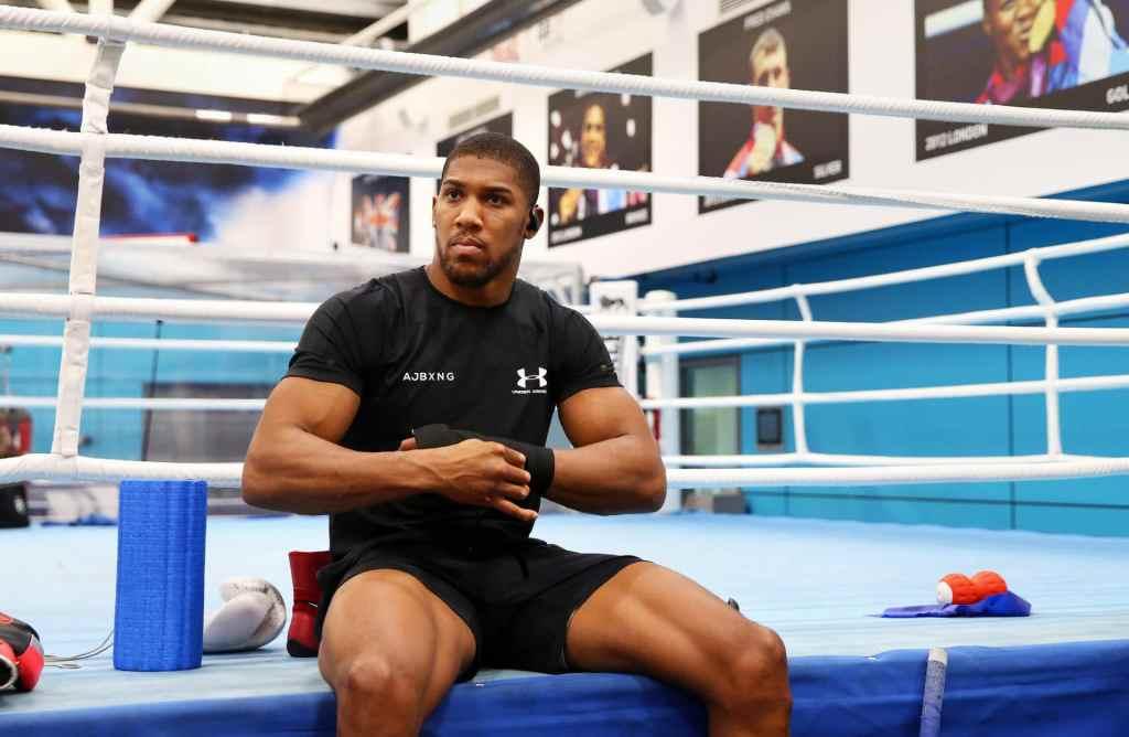 anthony joshua boxing donation deepersport