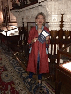 The author, one of three speakers selected to speak in Queen Victoria's historic Durbar Hall at Osborne House.