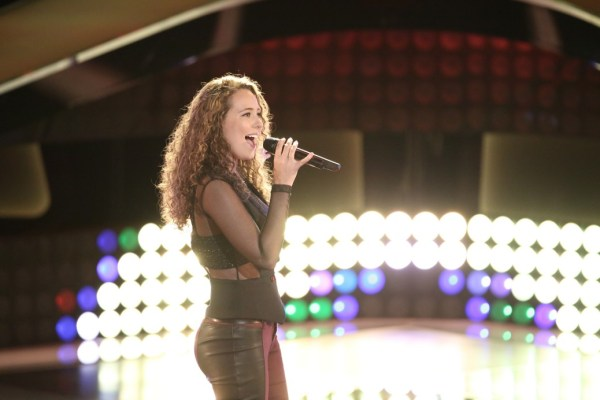 """THE VOICE --  """"Battle Rounds"""" Episode 707 -- Pictured: Alessandra Castronovo -- (Photo by: Tyler Golden/NBC)"""