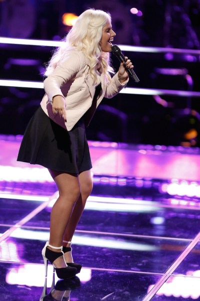 "THE VOICE --  ""Battle Rounds"" Episode 709 -- Pictured: Allison Bray -- (Photo by: Tyler Golden/NBC)"