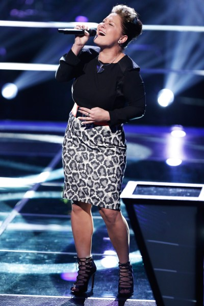 "THE VOICE --  ""Battle Rounds"" Episode 708 -- Pictured: DaNica Shiery -- (Photo by: Tyler Golden/NBC)"