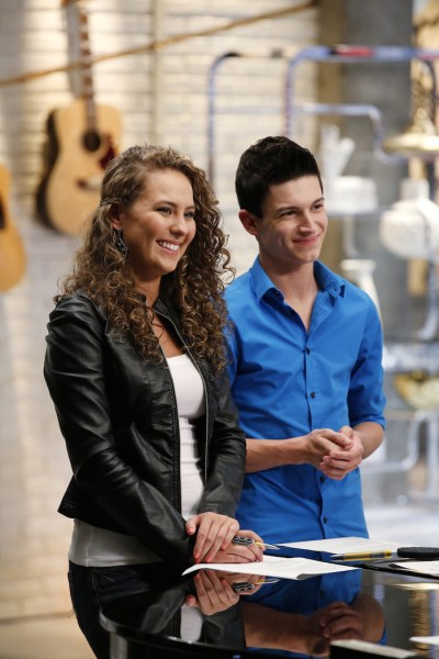 "THE VOICE -- ""Team Adam Battle Reality"" -- Pictured: (l-r) Alessandra Castronovo, Joe Kirk. Credit: Trae Patton/NBC"