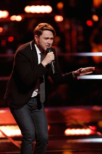 """THE VOICE -- """"Knockout Rounds"""" Pictured:   Luke Wade -- (Photo by: Tyler Golden/NBC)"""