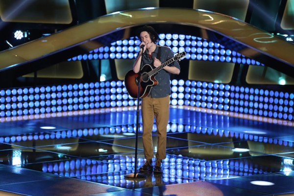 """THE VOICE -- """"Blind Auditions""""  -- Pictured: Taylor John Williams -- (Photo by: Tyler Golden/NBC)"""
