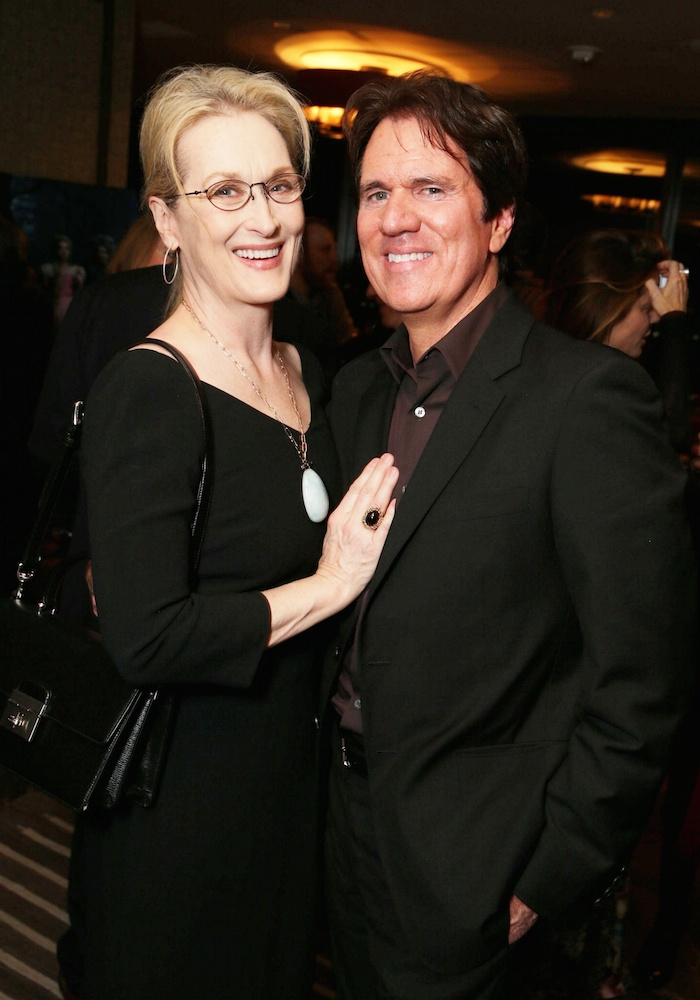 "EXCLUSIVE - Meryl Streep and Producer/Director Rob Marshall joined Alan Horn, Chairman of Walt Disney Studios, hosted a holiday gathering celebrating ""Into the Woods"" on Wednesday, December 17 in Los Angeles, CA. The humorous and heartfelt musical, that has been nominated for 3 golden globe awards including Best Picture opens in theaters nationwide on December 25, 2014. (Photo by Eric Charbonneau/Invision for Walt Disney/AP Images)"