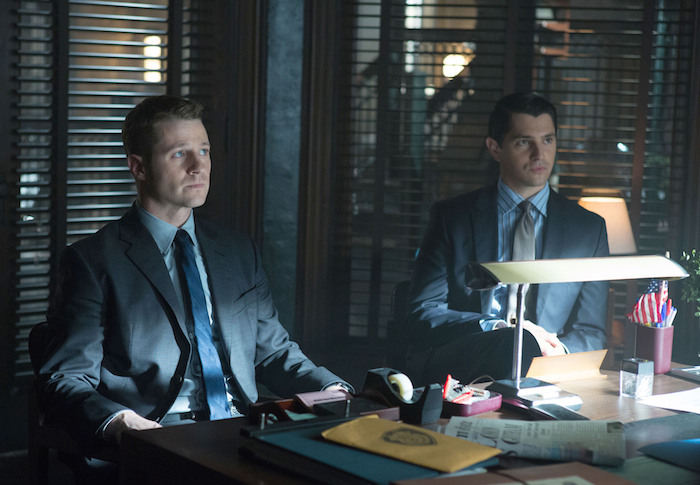 Ben McKenzie and Nicholas D'Agosto in 'Gotham.'  Cr: Jessica Miglio/FOX