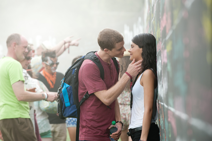 Jonny Weston is David Raskin and Sofia Black D'Elia is Jessie Pierce in PROJECT ALMANAC, from Insurge Pictures, in association with Michael Bay.
