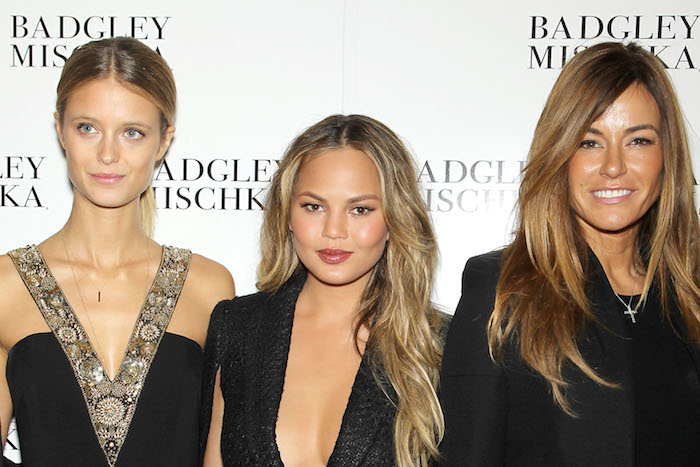 BADGLEY MISCHKA Fall 2015 During Mercedes-Benz NY Fashion Week - Backstage and Front Row -PICTURED: Kate Boch, Chrissy Tiegan, Kelly Bensimon -PHOTO by:Marion Curtis/Starpix