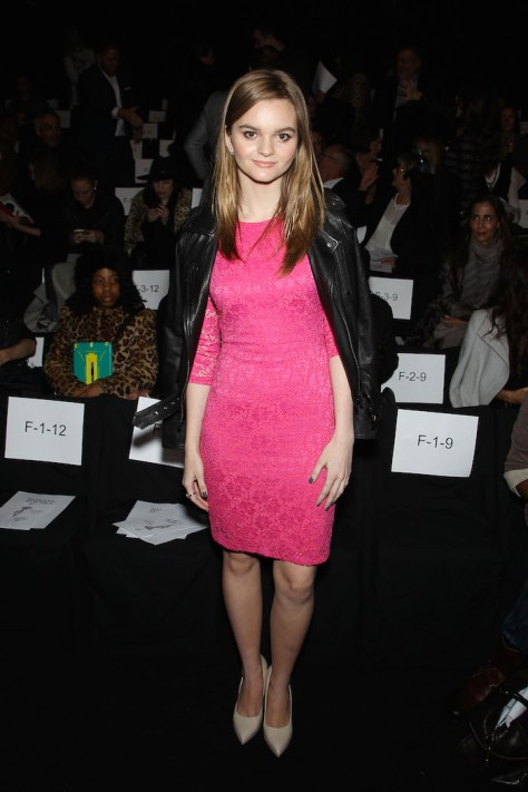 New York, NY - 2/17/15 - BADGLEY MISCHKA Fall 2015 During Mercedes-Benz NY Fashion Week - Backstage and Front Row -PICTURED: Kerris Dorsey -PHOTO by:Marion Curtis/Starpix -Location: The Theatre Lincoln Center