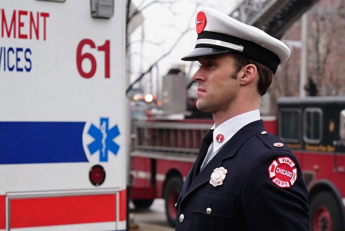 "CHICAGO FIRE -- ""Three Bells"" Episode 313 -- Pictured: Jesse Spencer as Matthew Casey -- (Photo by: Elizabeth Morris/NBC)"