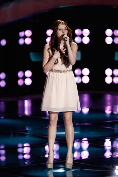 """THE VOICE -- """"Blind Auditions"""" -  Pictured: Brooke Adee -- (Photo by: Tyler Golden/NBC)"""